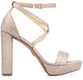 MICHAEL Michael Kors Glitter Detail 125mm Platform Sandals
