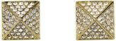 Vince Camuto Gold Pave Pyramid Studs