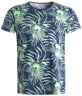 Tom Tailor Denim Print Tshirt Black Iris Blue