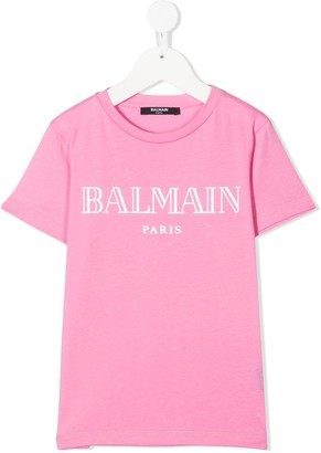 Balmain Kids logo-print T-shirt