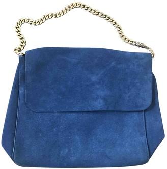 Celine Gourmette Blue Suede Handbags