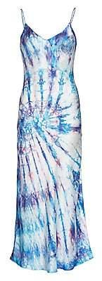 Dannijo Women's Tie-Dye Silk Slip Dress