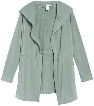 Ady P Long Sleeve Knit Cinched Waist Jacket