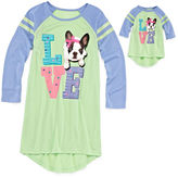 Asstd National Brand Komar Kids Love Dog Sleep Gown with Matching Doll Outfit - Girls 7-16