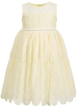 Blueberi Boulevard Toddler Girls Embellished Lace Dress