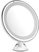 Lighted Makeup Mirror, Oak Leaf Adjustable 360 Degree Rotating Shaving Shower Mirror with 7X Maginification and Suction Cup