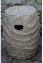Outdoor Interiors Urban Washed Clay Garden Stool in Khaki