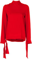 Joseph neck tie blouse - women - Spandex/Elastane/Acetate/Cupro/Viscose - 40