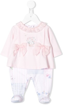 Lapin House Layered Bow Detail Babygrow