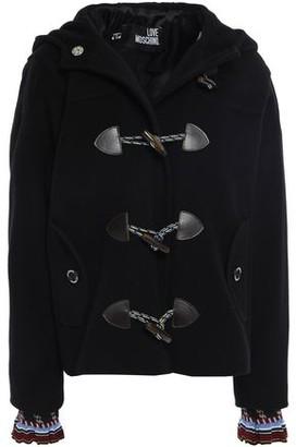 Love Moschino Wool-blend Felt Hooded Jacket