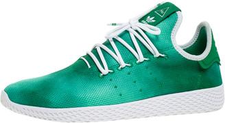 adidas Pharrell Williams x Holi Green Knit Fabric PW Tennis Hu Sneakers Size 46