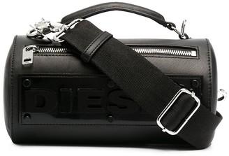 Diesel Raised-Logo Cylindrical Crossbody Bag