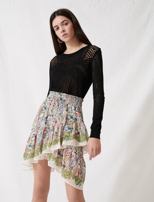 Maje Bucolic skirt with ruffles and smocks
