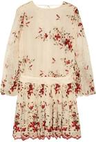 Zimmermann Sakura embroidered silk-georgette mini dress