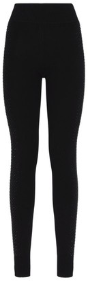 William Sharp Embellished Cashmere Leggings