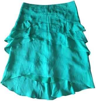 Comptoir des Cotonniers Green Silk Skirt for Women