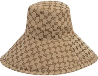 Gucci GG canvas wide brim hat