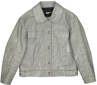 Miu Miu Green Leather Jacket for Women