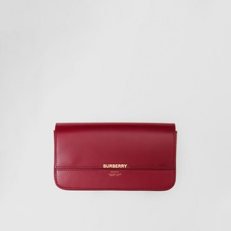 Burberry Leather Wallet with Detachable Chain Strap