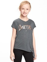 Old Navy Go-Dry Cool Side-Tie Graphic Tee for Girls