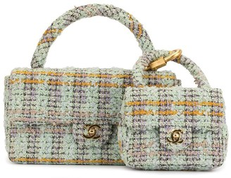 Chanel Pre Owned 1992 Tweed Double Flap Bags