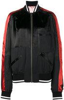 Haider Ackermann piped bomber jacket