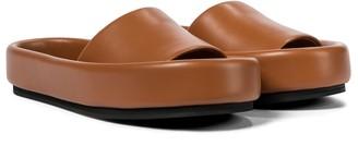 KHAITE Venice leather slides