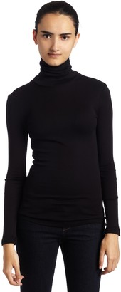 Splendid Women's 1X1 Long Sleeve Turtleneck Top
