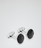 Reiss Chessboard CRYSTAL-EMBELLISHED CUFFLINKS