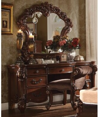 Waloo Vanity Set with Stool Astoria Grand Color: Cherry