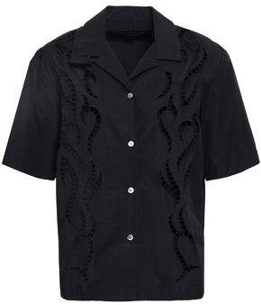 Alexander Wang Embroidered Cutout Cotton-poplin Shirt