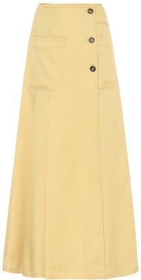 Plan C Twill maxi skirt