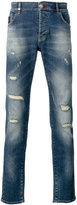 Philipp Plein distressed slim fit jeans - men - Cotton/Spandex/Elastane - 31