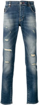 Philipp Plein distressed slim fit jeans - men - Cotton/Spandex/Elastane - 32