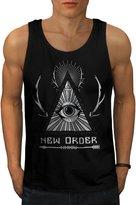 New World Order Crew Illuminati Men L Tank Top | Wellcoda