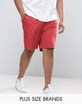 Polo Ralph Lauren Plus Chino Shorts Stretch Twill In Red