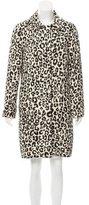 Chloé Leopard Patterned Knee-Length Coat