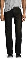 True Religion Ricky Flap-Pocket Two-Tone Corduroy Jeans, Black