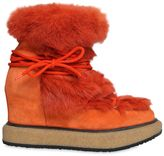 Paloma Barceló 90mm Lapin Fur & Suede Lace-Up Boots