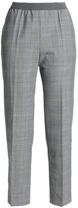 Agnona Prince Of Wales Woven Tapered Pants