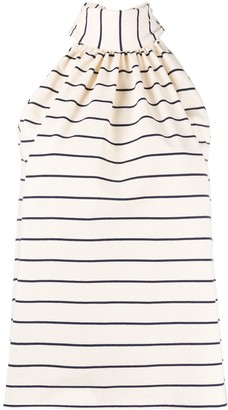 Jejia Striped High Neck Top