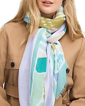 Kate Spade Central Park Map Oblong Scarf