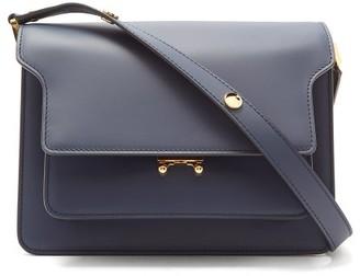 Marni Trunk Medium Leather Shoulder Bag - Womens - Navy