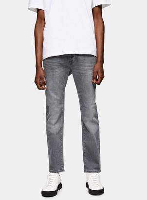 Topman Grey Stretch Slim Jeans