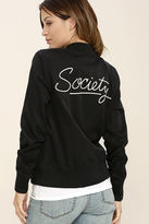 Amuse Society Axel Black Bomber Jacket