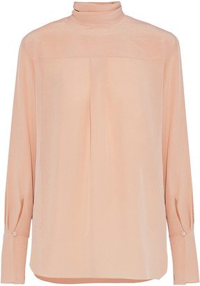Chloé Tie-back Washed-silk Blouse