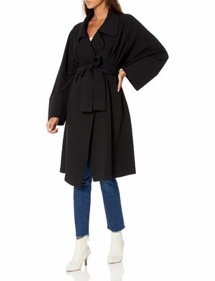 Norma Kamali Women's Dolman 80'S Coat to Knee