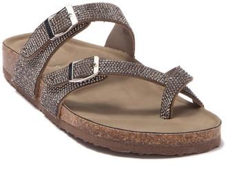 Madden-Girl Brycee Crystal Embellished Slide Sandal