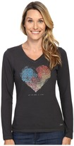 Life is Good All We Need Is Love Long Sleeve Crusher Vee