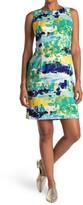 Thumbnail for your product : Sandra Darren Abstract Print Sleeveless Sheath Dress